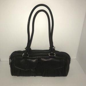 Black Fossil Barrel Handbag